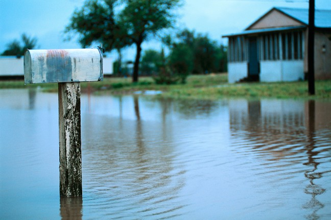 Mailbox in Flood Waters